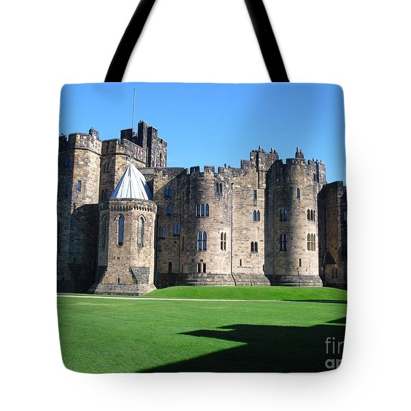 Tote Bag featuring the photograph Alnwick Castle Castle Alnwick Northumberland by Paul Fearn