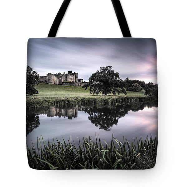 Alnwick Castle Sunset Tote Bag by Dave Bowman
