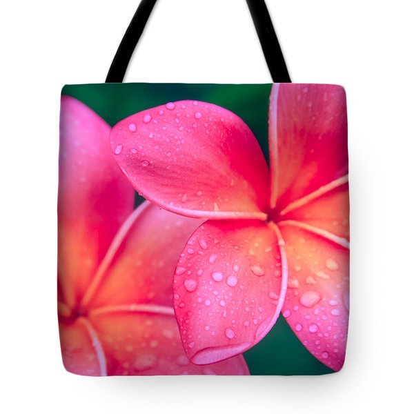 Aloha Hawaii Kalama O Nei Pink Tropical Plumeria Tote Bag by Sharon Mau