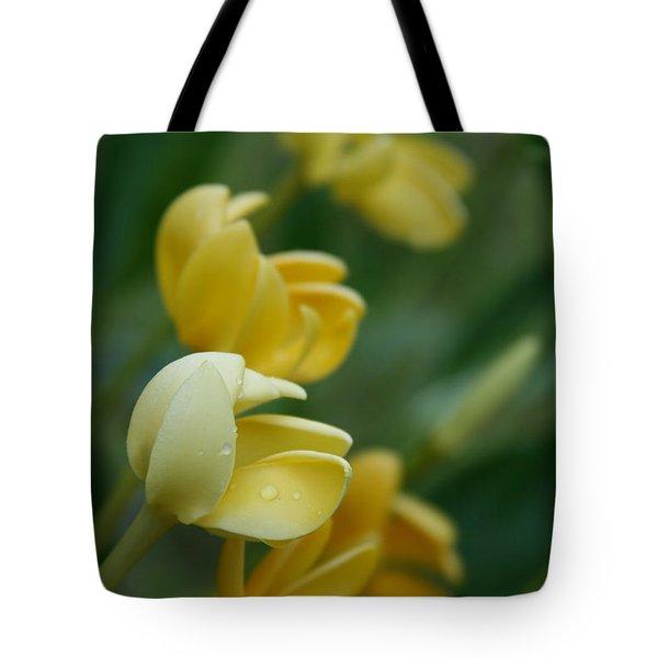 Aloha He Pua Lahaole Kula Gardenia Grandiflora Tote Bag by Sharon Mau