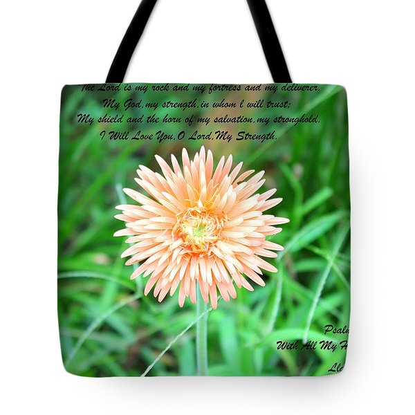 Tote Bag featuring the photograph Alone And Standing by Lorna Maza