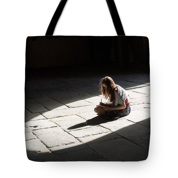 Alone In A Pool Of Light Tote Bag