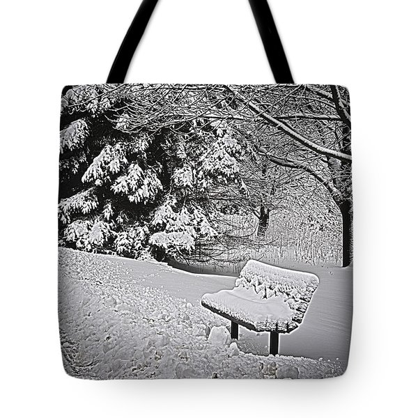 Tote Bag featuring the photograph Alone In The Park.... by Deborah Klubertanz