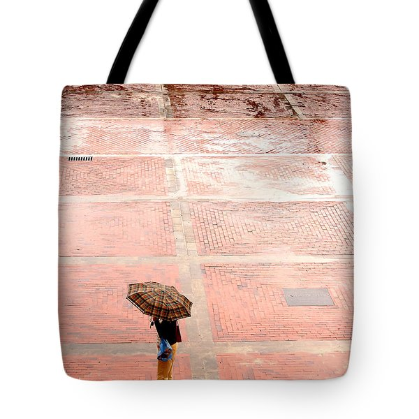 Alone In The Rain Tote Bag by Michal Bednarek