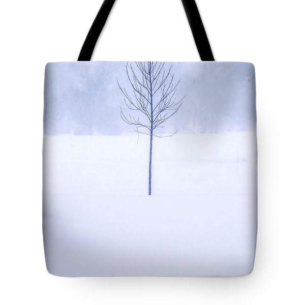 Alone In The Snow Tote Bag