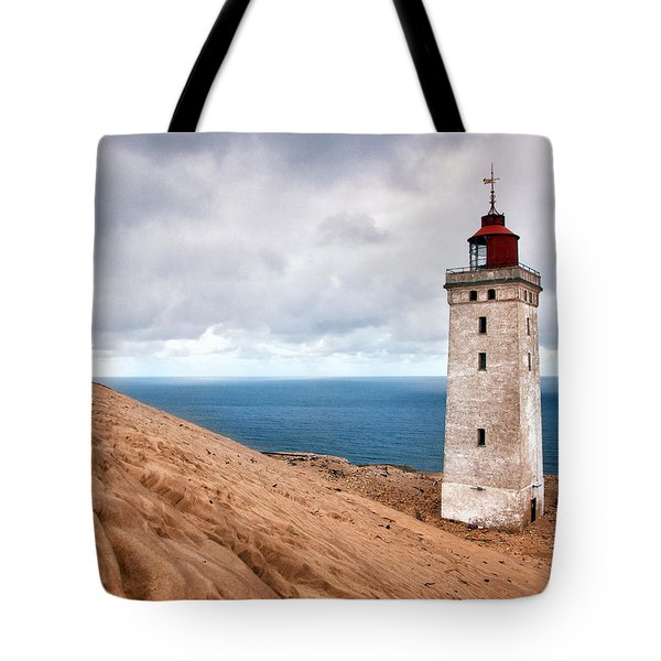 Lighthouse On The Sand Hils Tote Bag