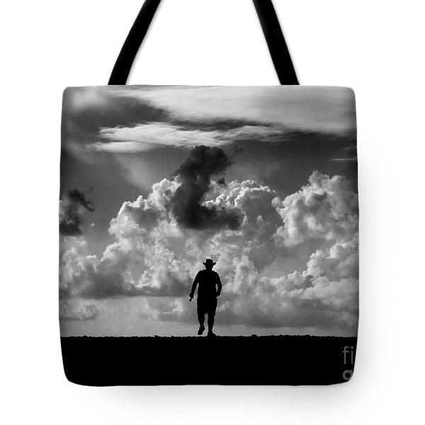 Alone Tote Bag by Stelios Kleanthous