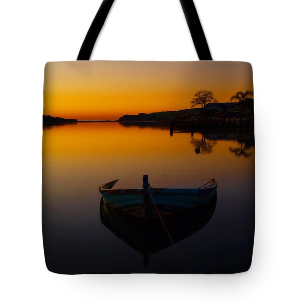 Tote Bag featuring the photograph Alone by Trena Mara