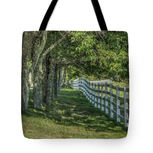Tote Bag featuring the photograph Along A Country Road by Jane Luxton