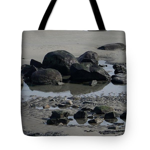 Along A Maine Beach Tote Bag by Eunice Miller