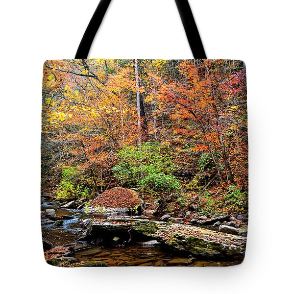 Along Fall Creek Tote Bag