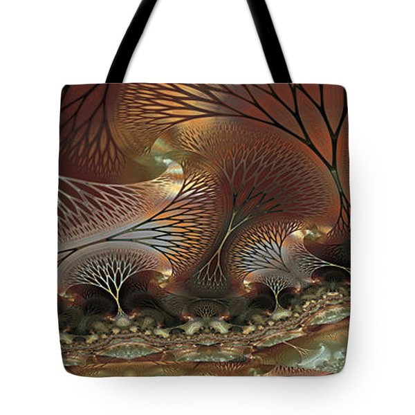 Tote Bag featuring the digital art Along The Banks by Kim Redd