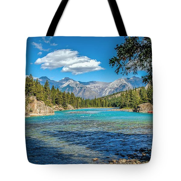 Along The Bow River Tote Bag