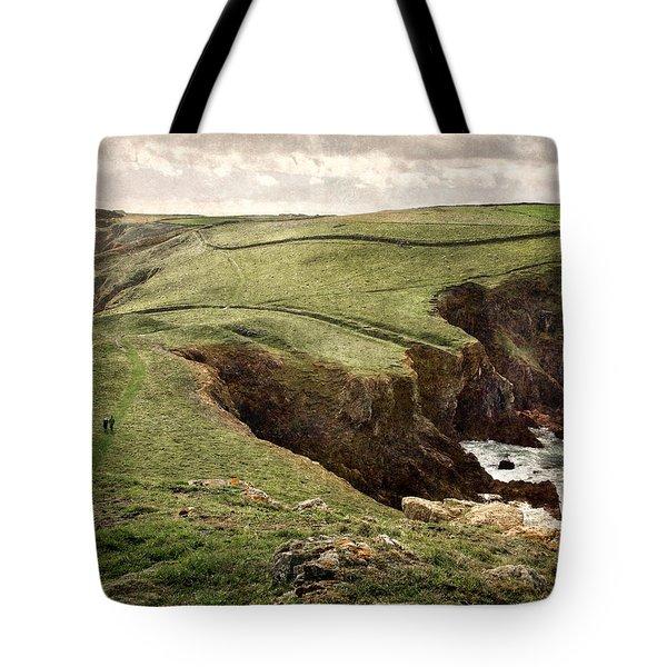 Along The Coast Path Tote Bag