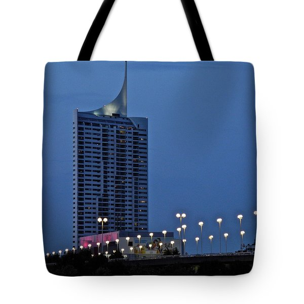 Tote Bag featuring the photograph Along The Danube In Vienna by Kirsten Giving