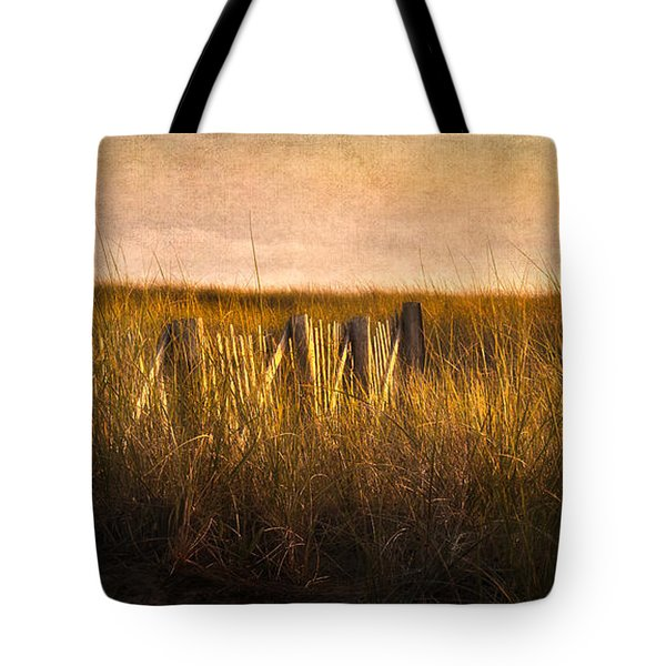 Along The Fence Tote Bag by Bill Wakeley