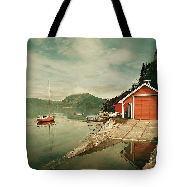 Along The Fjord Tote Bag