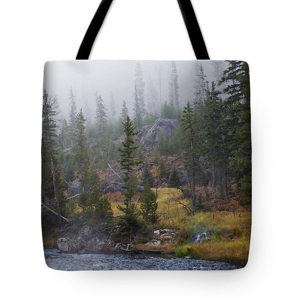 Along The Gibbon In Fall Tote Bag