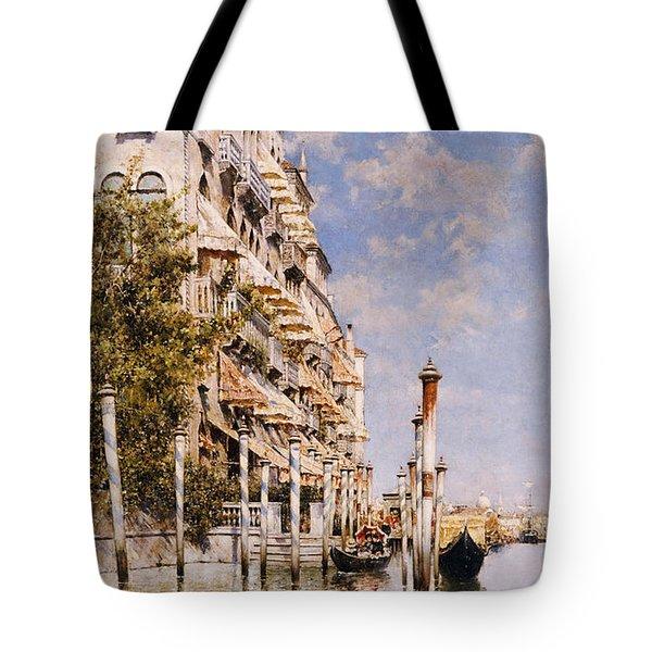 Along The Grand Canal Tote Bag by Rafael Senet