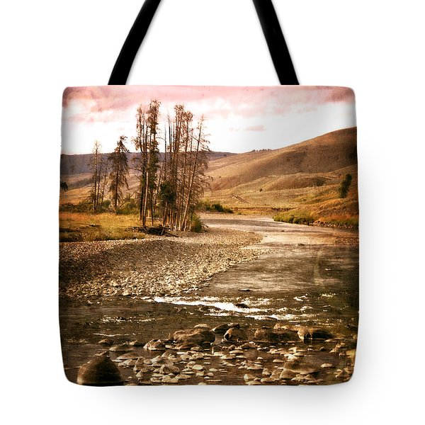 Along The Larmar River 2 Tote Bag by Marty Koch