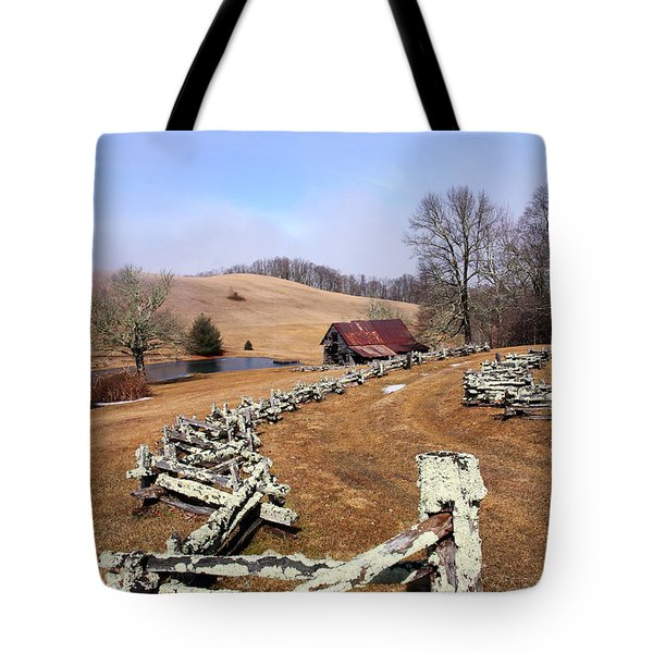 Along The Locust Rails Tote Bag