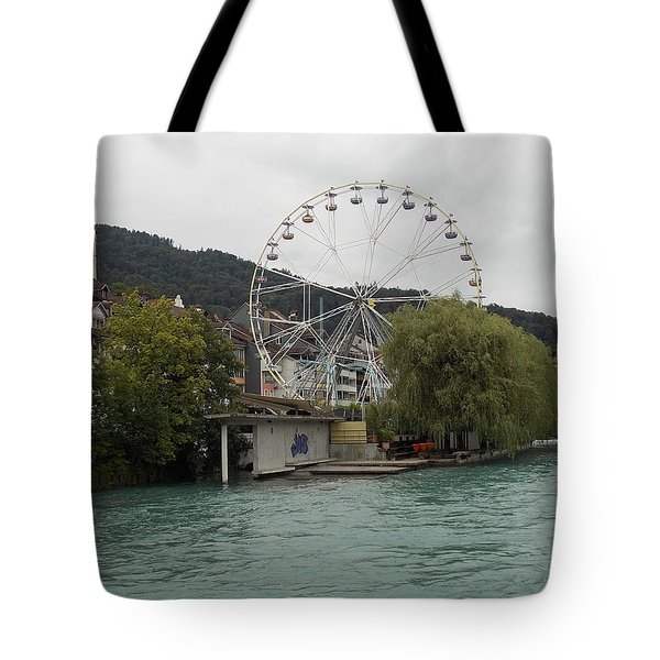 Along The River In Thun Tote Bag