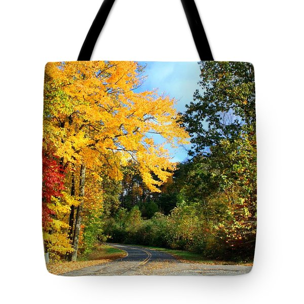 Tote Bag featuring the photograph Along The Road 2 by Kathryn Meyer