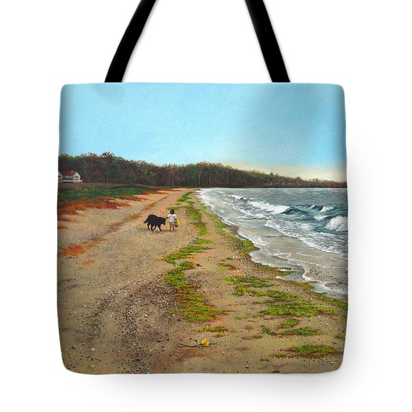 Along The Shore In Hyde Hole Beach Rhode Island Tote Bag by Christopher Shellhammer