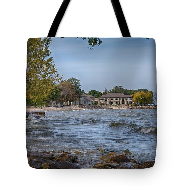 Tote Bag featuring the photograph Along The Shores Of Marblehead by John M Bailey