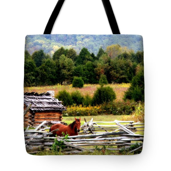 Along The Wilderness Trail Tote Bag by Karen Wiles