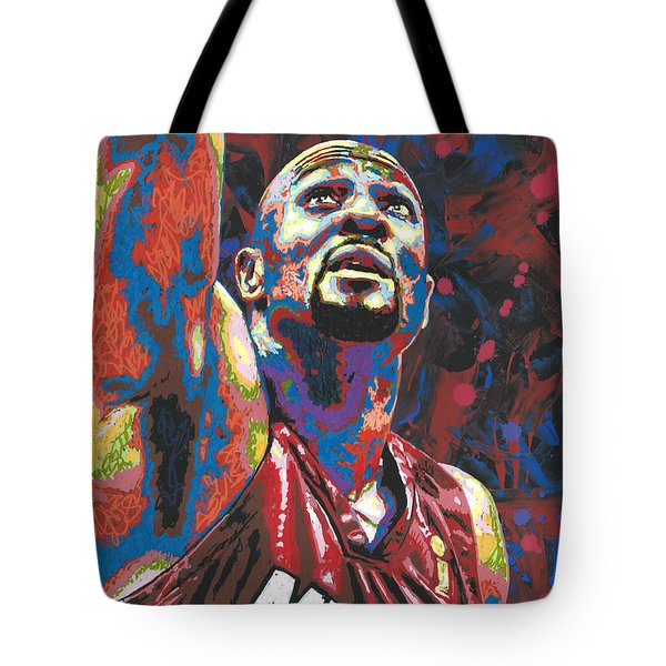 Alonzo Mourning Tote Bag by Maria Arango