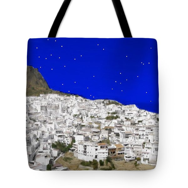 Alora Malaga Spain At Twilight Tote Bag by Bruce Nutting