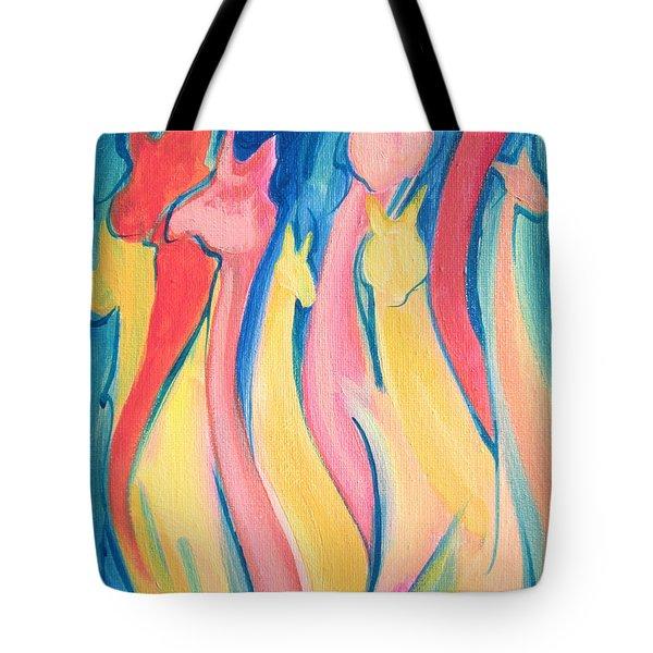 Alpaca Flames Tote Bag