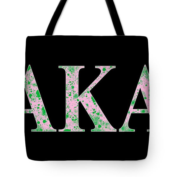 Alpha Kappa Alpha - Black Tote Bag