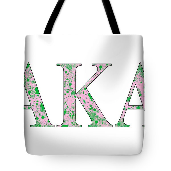 Tote Bag featuring the digital art Alpha Kappa Alpha - White by Stephen Younts