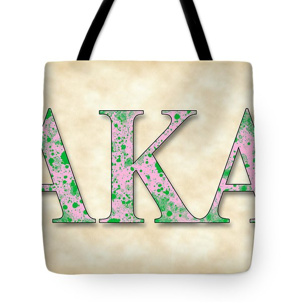 Alpha Kappa Alpha - Parchment Tote Bag by Stephen Younts