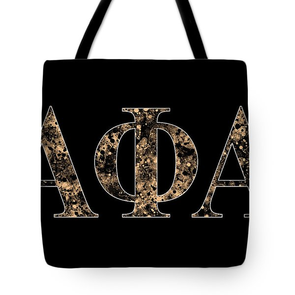 Tote Bag featuring the digital art Alpha Phi Alpha - Black by Stephen Younts