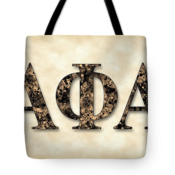 Alpha Phi Alpha - Parchment Tote Bag by Stephen Younts