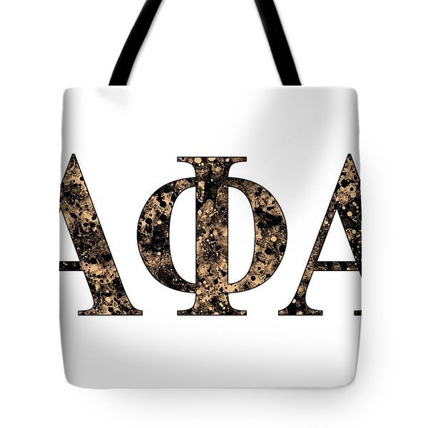 Tote Bag featuring the digital art Alpha Phi Alpha - White by Stephen Younts