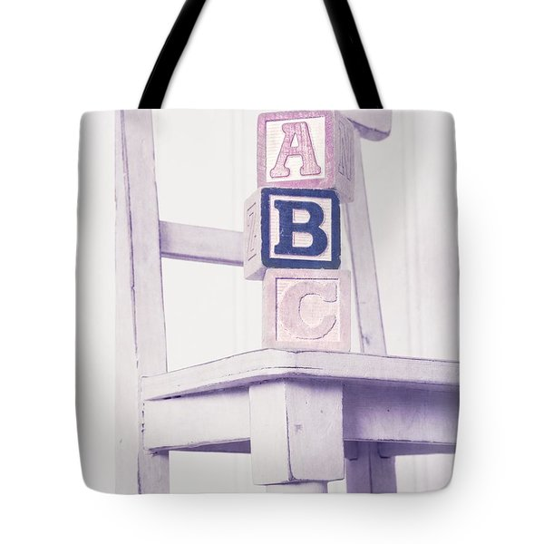 Alphabet Blocks Chair Tote Bag by Edward Fielding
