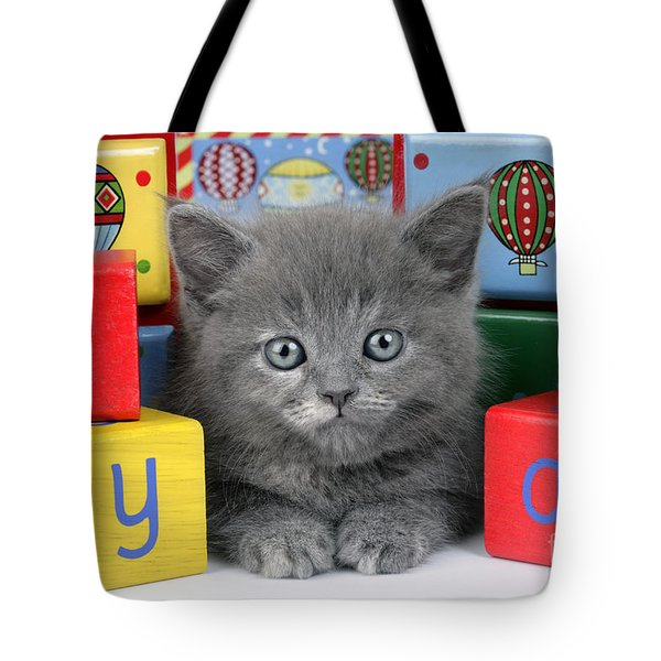 Alphabet Cat Ck415 Tote Bag by Greg Cuddiford