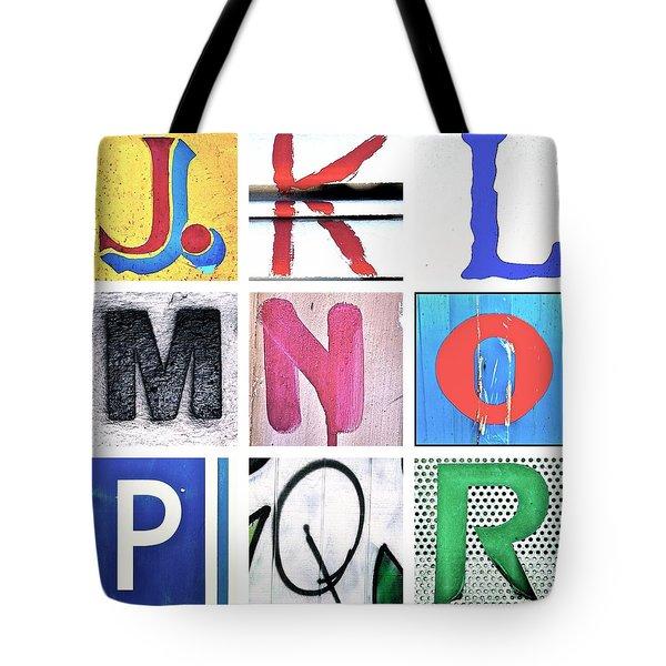 Alphabet Series 2 Tote Bag