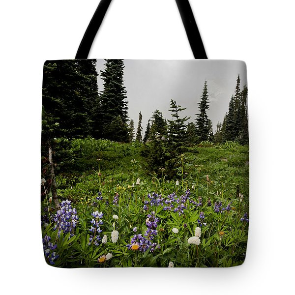 Alpine Beauty Tote Bag by Karen Lee Ensley