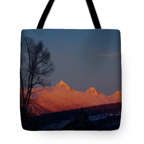 Tote Bag featuring the photograph Alpenglow by Raymond Salani III