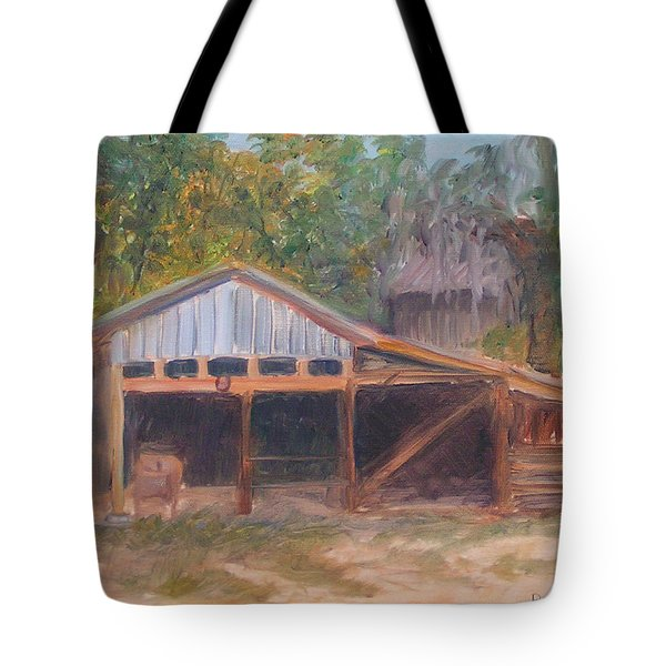 Alpine Groves Fruit Packing Shed Tote Bag