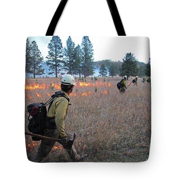 Alpine Hotshots Ignite Norbeck Prescribed Fire Tote Bag