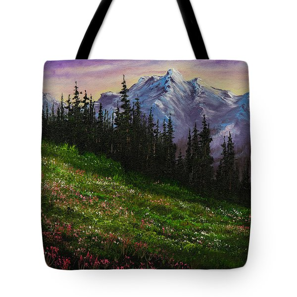 Alpine Meadow Tote Bag by C Steele