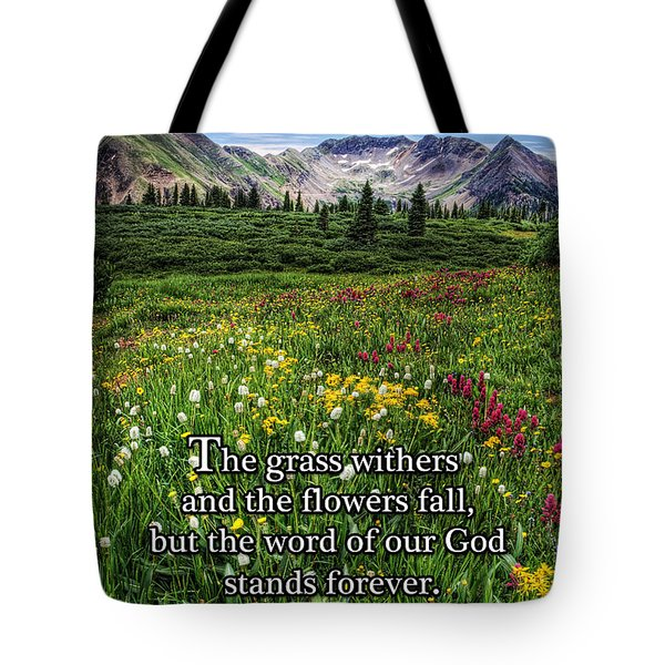Tote Bag featuring the photograph Alpine Meadow by Priscilla Burgers