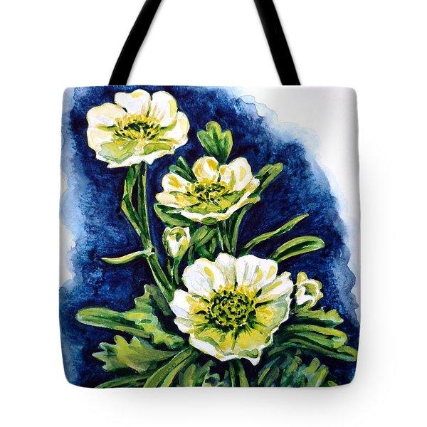 Alpine Ranunculus Tote Bag by Zaira Dzhaubaeva
