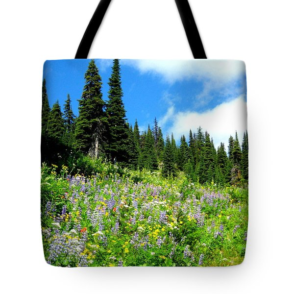 Alpine Walk Tote Bag by Kathy Bassett